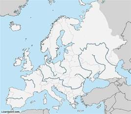 Europe Map with Rivers