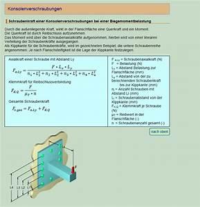 Auftriebskraft Berechnen Beispiel : konsolenberechnung wissenstransfer anlagen und maschinenbau berechnung von maschinenelementen ~ Themetempest.com Abrechnung