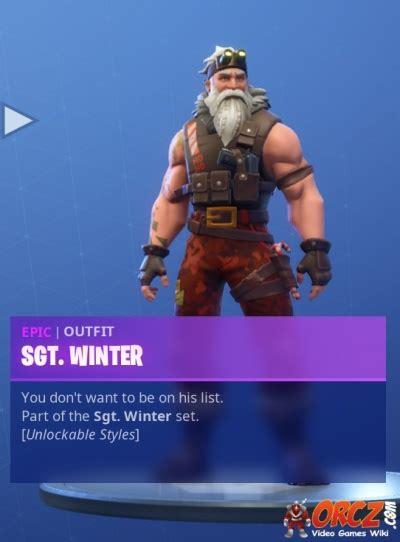 fortnite battle royale sgt winter orczcom  video
