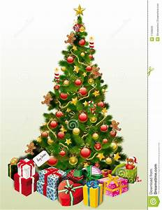 Christmas Tree & Presents stock vector. Image of vector ...