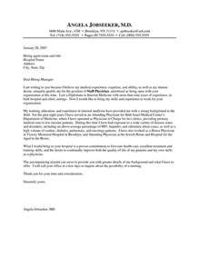 exles of coverletters doctor cover letter