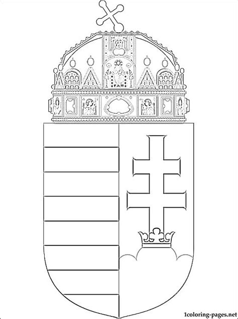 hungary coat  arms coloring page coloring pages