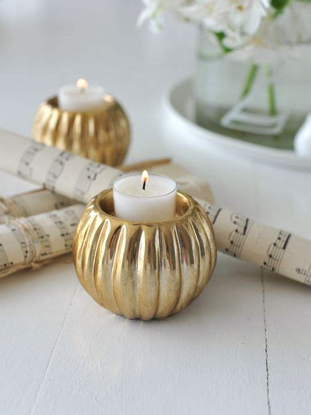 soft gold tealight holder gold ceramic tealight holder