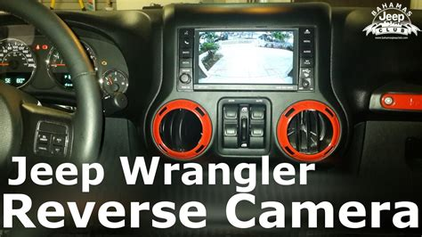 Jeep Wrangler Reverse Camera Installation