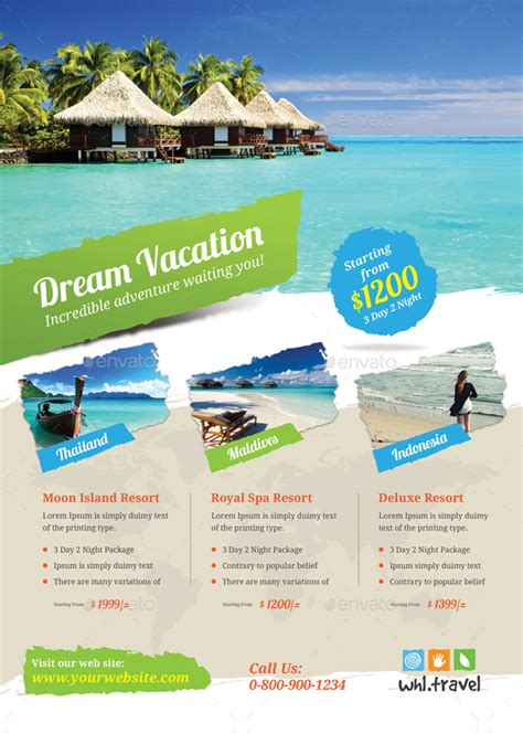 holiday travel vacation flyer  themedevisers