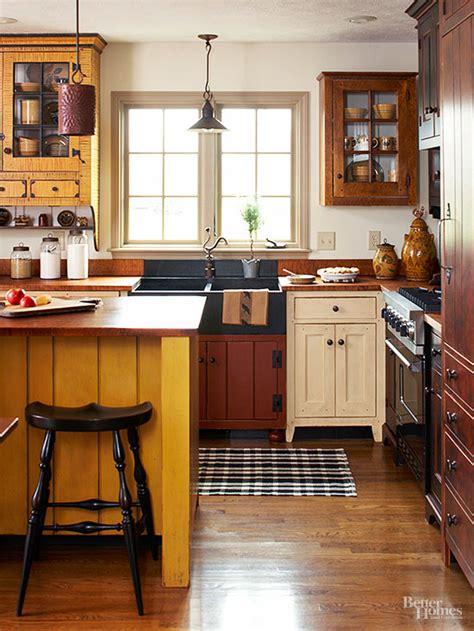 mismatched kitchen cabinets   good   escape