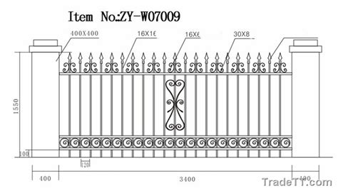 Wrought Iron Fence Parts 19699