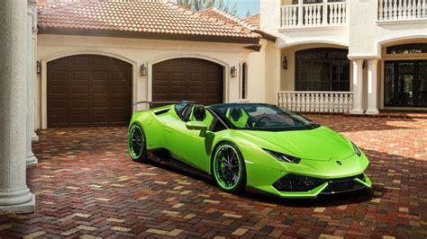 Velos Green Lamborghini Huracan Roadster 5k Wallpaper