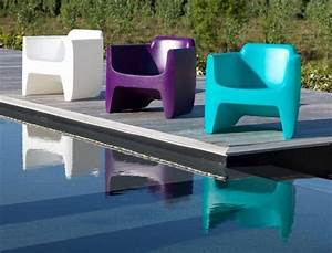 Fauteuil Plastique Jardin : fauteuil de salon de jardin couleurs flashy fauteuil design ~ Teatrodelosmanantiales.com Idées de Décoration