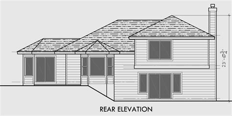 Home Design Level 106 : Side Split Level House Plans