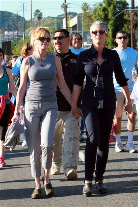 roger moore griffiths and armour jamie lee curtis and melanie griffith photos photos