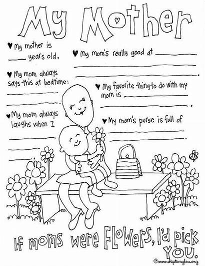 Coloring Mother Pages Mothers Sheets Printables Prints