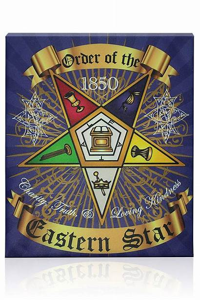 Eastern Star Masonic Order Symbols Wall Canvas