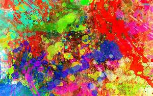 Paint splatter art colorful background experimental