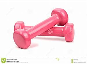 Pink Dumbbell Clipart