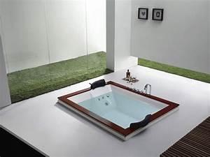 Baignoire 2 Places Balneo : baignoire baln o xxl texas 180x140x60 cm 2 places 51358 ~ Edinachiropracticcenter.com Idées de Décoration