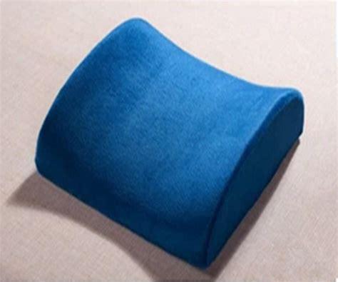 Blue Car Pillow Seat Wedge Car Seat Chair Lumbar Support