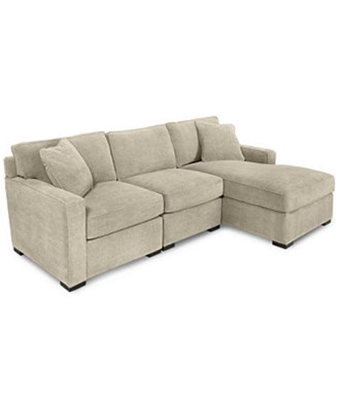 macys radley sofa bed radley 3 fabric chaise sectional sofa furniture