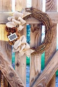 Diy, Fall, Wreath, Rustic, Burlap