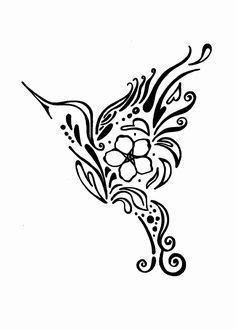 Hummingbird forget me not design tattoo | Hummingbird tattoo, Alzheimers tattoo, Beautiful tattoos