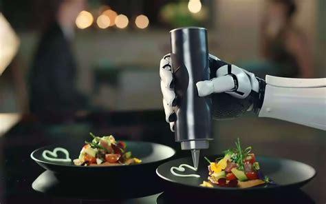 chef de cuisine emploi vidéo robotic kitchen un cuisinier qui met la
