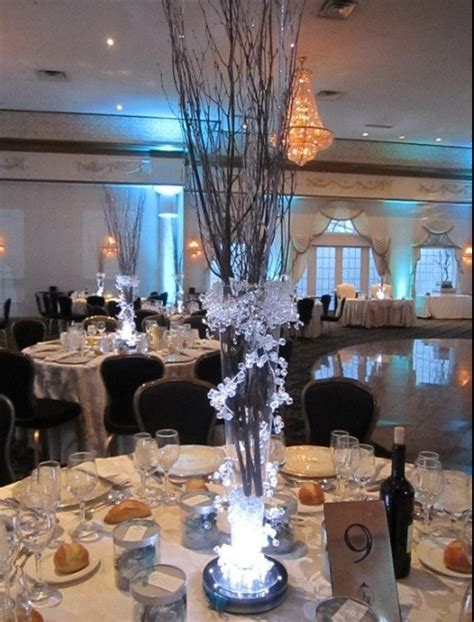 winter branch centerpieces iced branch centerpieces by magicbeyondmidnight on etsy