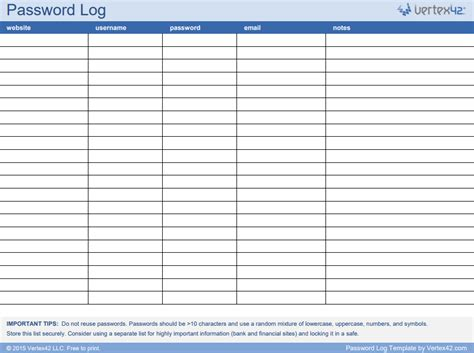spreadsheet template spreadsheet templates for storing passwords the approach best reviews