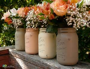 Fall Table Decorations / Rustic Home Decor / Painted Mason Jars / Thanksgiving Centerpiece / Vase / Autumn / Fall centerpiece / Set of 4