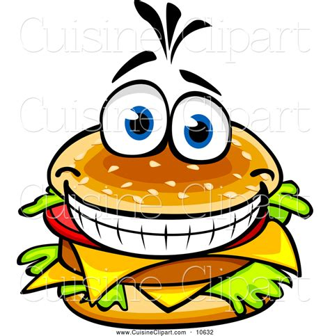 cuisine clipart cuisine clipart of a cheeseburger by vector tradition sm 10632