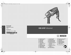 Bosch Gsb 16 Re Original Instructions Manual Pdf Download