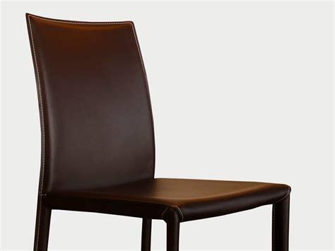 chaise cuir marron chaise en cuir costa marron