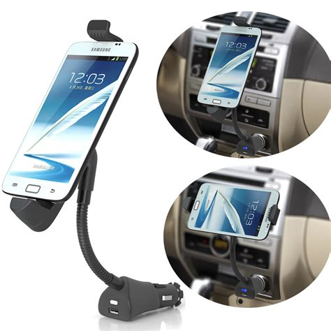 car phone universal car phone holder usb charger cigarette lighter