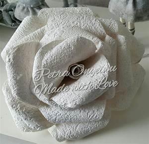 Basteln Mit Tapete : xxl rose aus tapete basteln ~ Orissabook.com Haus und Dekorationen