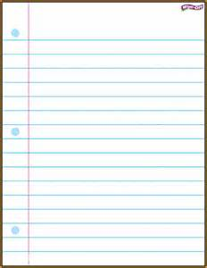 Notebook Paper Template Word