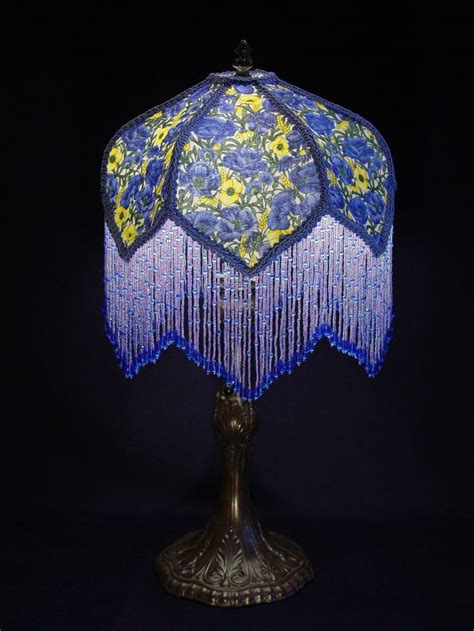 argos blue l shade beaded l shades the shade is hand stitched and has a
