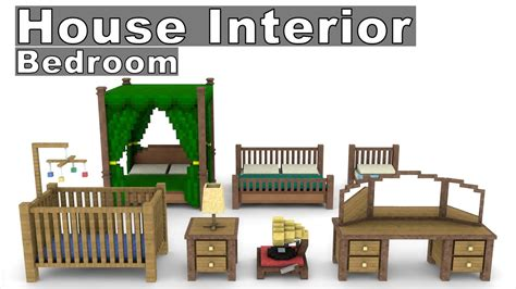 Minecraft House Interior Furniture Model Pack