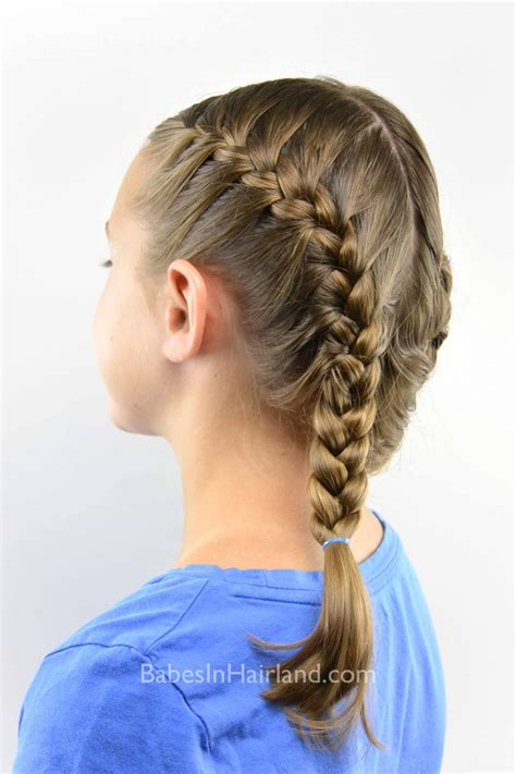tight french braid babes  hairland
