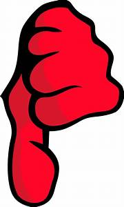 Clipart - Thumbs Down
