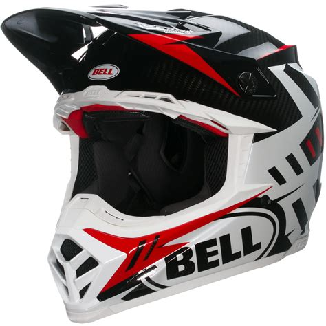 red motocross helmet bell moto 9 carbon flex syndrome red motocross enduro