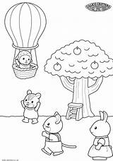 Coloring Pages Sylvanian Critters Calico Families Getcoloringpages Ice Cream Store Colouring sketch template