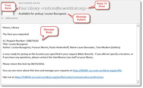 Edit Send Notifications Oclc Support