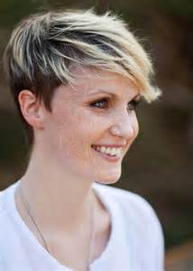 Short Hair Frosted Tips