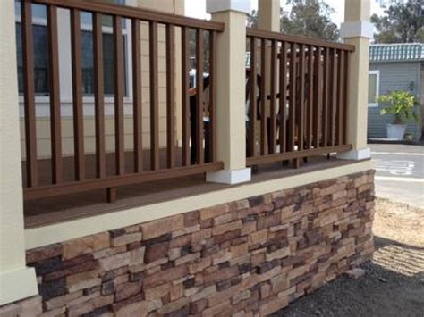 Diy Deck Skirting Ideas by Front Deck Designs Mobile Home Skirting Look Diy