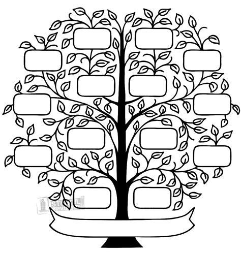 family stencil family tree printable family tree