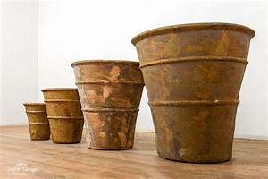 Rustic, Finish, Banded, Terracotta, Planters
