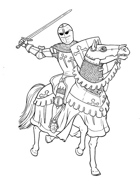 knight  sword coloring page colorbook pinterest