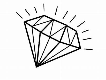 Diamond Coloring Pages Shape Draw Shiny Easy
