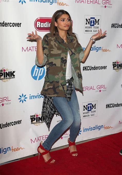 zendaya coleman kc undercover premier party  hollywood