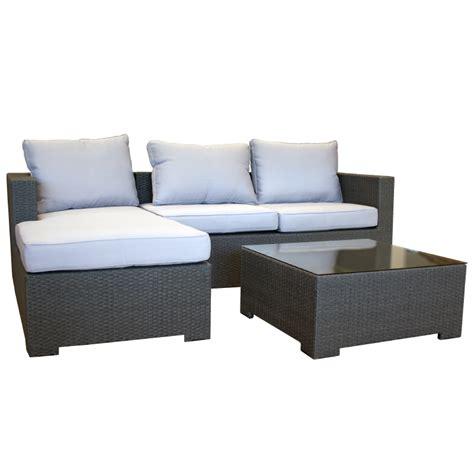 Garten Lounge Couch Aus Polyrattan Gartencouch Sofa Grau