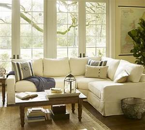 pb comfort square arm slipcovered 3 piece sectional with With pottery barn comfort sofa sectional